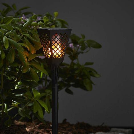 Antorcha solar cuadrada efecto vela con parpadeo de llama