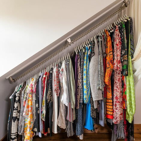 """main image of """"Any Angle Clothes Hanging Rail - Zebedee 80cm"""""""