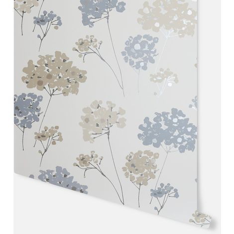 Anya Floral Blue Wallpaper - Arthouse - 907500