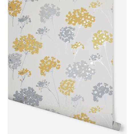 Anya Floral Ochre Wallpaper - Arthouse - 907502