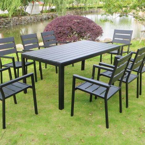 Anzio 8. Salon de jardin polywood 8 places. - 6528