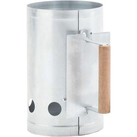 Anzündkamin für Holzkohlegrill Verzinkter Stahl