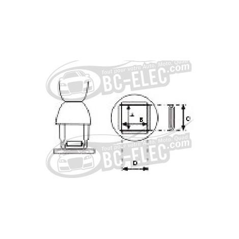 Aoyue - 91141 Embout à air chaud PLCC/J, rectangulaire 11.5mm*14mm