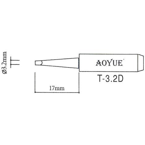 AOYUE T-3.2D Pointe à souder Ø3.2x0.5mm Fer à Souder Station de Soudage