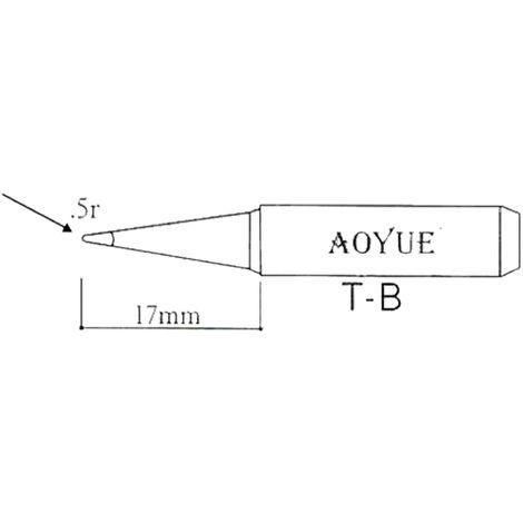 AOYUE T-B Punta de soldar para soldador R 0.5mm