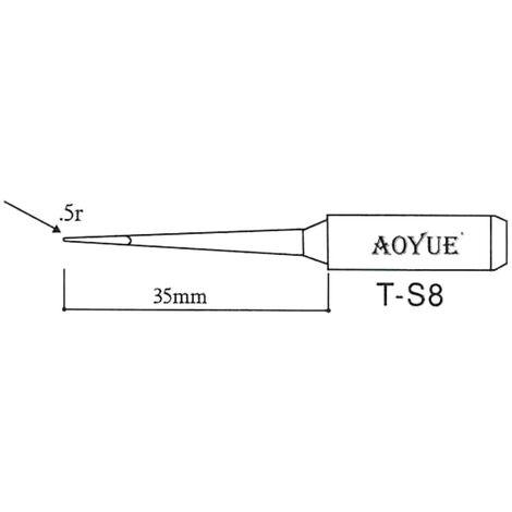 AOYUE T-S8 Pointe à souder de rechange R 0.5mm Fer à Souder Station de Soudage