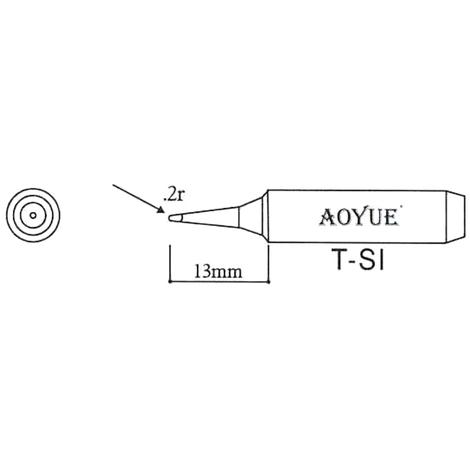 AOYUE T-SI Pointe à souder de rechange R 0.2mm Fer à Souder Station de Soudage