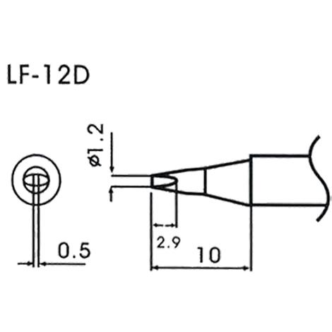 AOYUE WQ/LF-12D Pointe à souder Ø1.2mm x 0.5mm Fer à Souder Station de Soudage