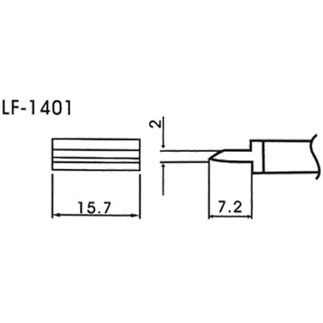 AOYUE WQ/LF-1401 Pointe à souder forme tunnel 15.7mm Fer à Souder Station de Soudage