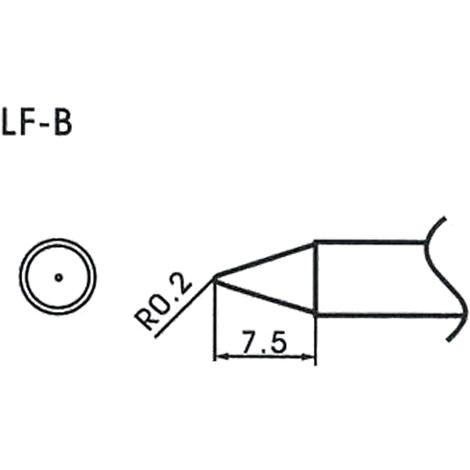AOYUE WQ/LF-B Pointe à souder conique R0.2mm Fer à Souder