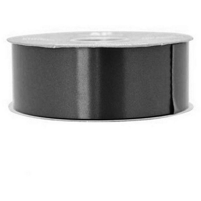 Image of 100 Yards Polypropylene Decorative Ribbon (100 Yards) (Black) - Apac