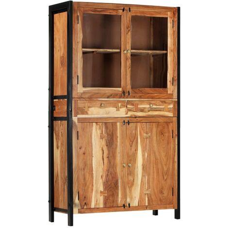 Aparador de madera maciza de acacia 100x40x175 cm