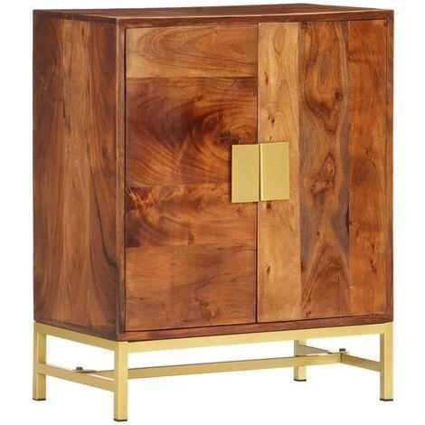Aparador de madera maciza de acacia 60x35x75 cm