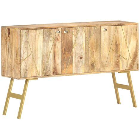 Aparador de madera maciza de mango 118x30x75 cm