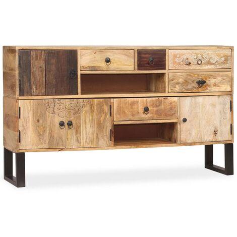 Aparador de madera maciza de mango 140x30x80 cm