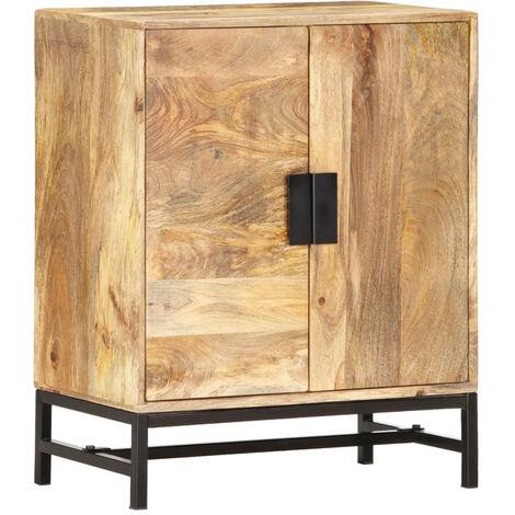 Aparador de madera maciza de mango 60x35x75 cm