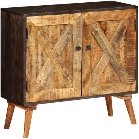 Aparador de madera maciza de mango 85x30x75 cm
