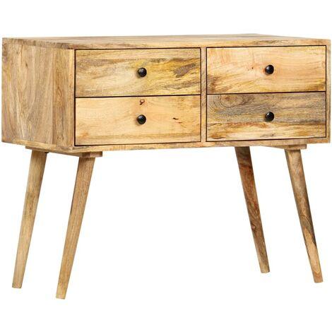 Aparador de madera maciza de mango 85x40x71 cm