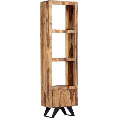 Aparador de madera maciza de sheesham 45x28x180 cm