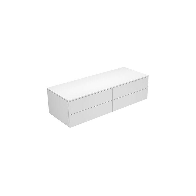 Aparador Edition 400 31766, 4 extraíbles, 1400 x 382 x 450 mm, Cuerpo/frontal: Barniz Estructural Blanco / Barniz Blanco Texturado - 31766380001