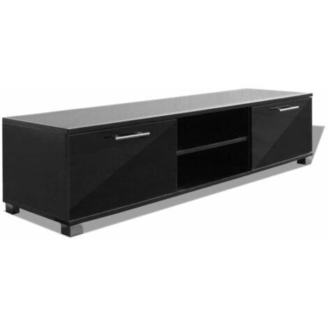 Aparador para TV alto brillo negro 120x40,3x34,7 cm
