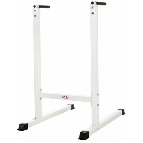 Aparato de entrenamiento DIP blanco - aparato para ejercicios de fondos, aparato para ejercicios para tríceps, máquina de fondos - blanco