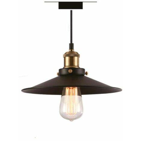 Aparato de suspensión de metal negro con bombilla LED retro Filamento XXCELL - E27