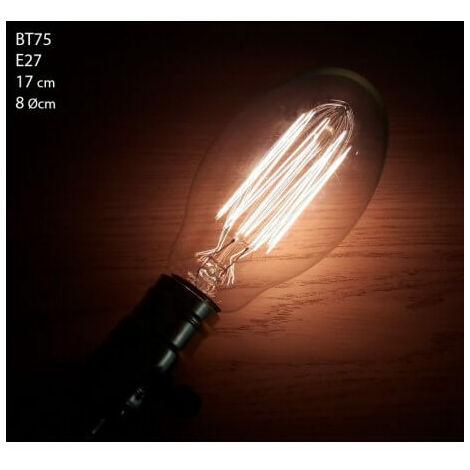 Aparente filamentos de Vintage bombilla incandescente Edison E27 BT75