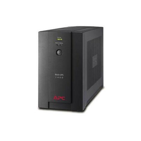APC Back-UPS - Interactivité de ligne - 1400 VA - 700 W - Sinus - 150 V - 280 V (BX1400UI)