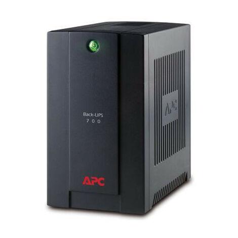 APC Back-UPS - Interactivité de ligne - 700 VA - 390 W - Sinus - 140 V - 300 V (BX700U-GR)