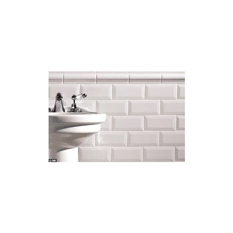 APE - faïence METRO blanc brillant 7.5x15cm - BLANC