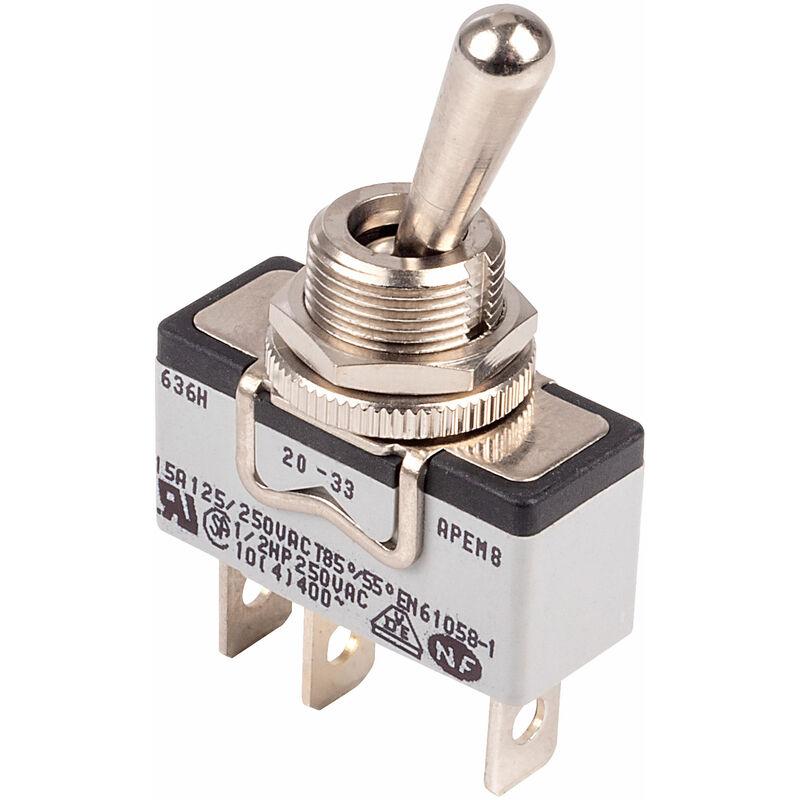 Image of 636H/2 Toggle Switch SPST On-On 250V 15A - Apem