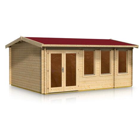 Apex Style Log Cabin 4.0m x 5.2m x 44mm