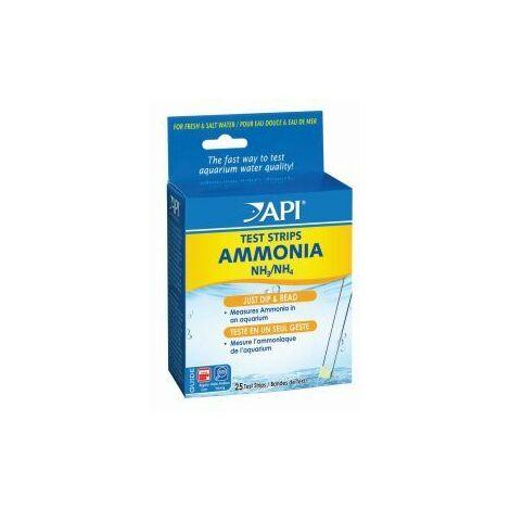 API Ammonia Test Strips 25 Tests x 1 (558941)