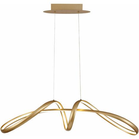 Apia design lámpara colgante 1 bombilla dorado arenado 50 Cm
