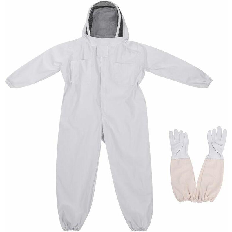Betterlife - Apicole Costume Équipement de Protection Professionnel Anti Abeille avec Longs Gants et Capuchon en Voile pour Apiculture Apiculteur