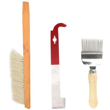 """main image of """"Apicoltura tre set di utensili per il taglio miele forchetta, api pennello, raschietto da"""""""