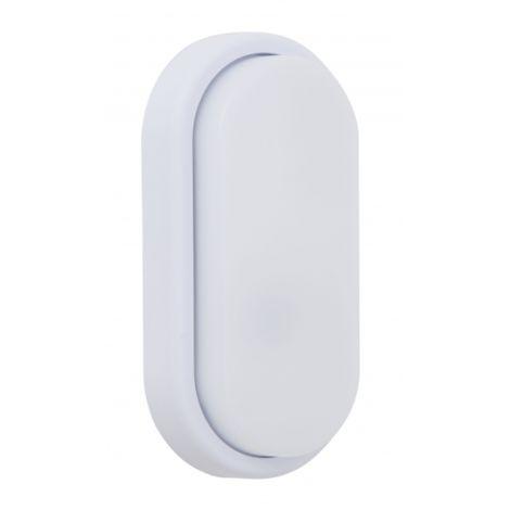 Aplique 12w Surf Ecovision Oval Ip65 Blanco 9,9x19,9x4,8 6400k 960lm