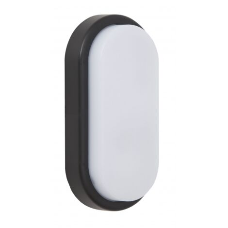 Aplique 12w Surf Ecovision Oval Ip65 Negro 9,9x19,9x4,8 6400 960lm