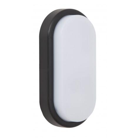 Aplique 18w Surf Ecovision Oval Ip65 Negro 9,9x19,9x4,8 6400k 1200l
