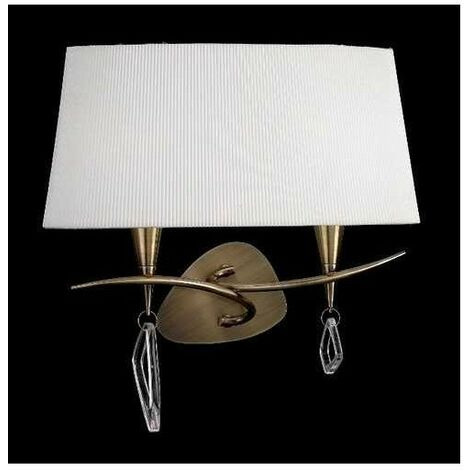 Aplique 2 Luces con pantalla ovalada MARA cuero satinado de Mantra
