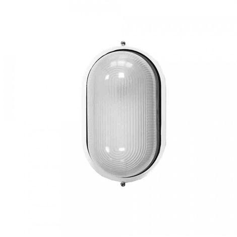 Aplique Aluminio Ip54 Oval Blanco E27 100W Mod. Cambrils - NEOFERR
