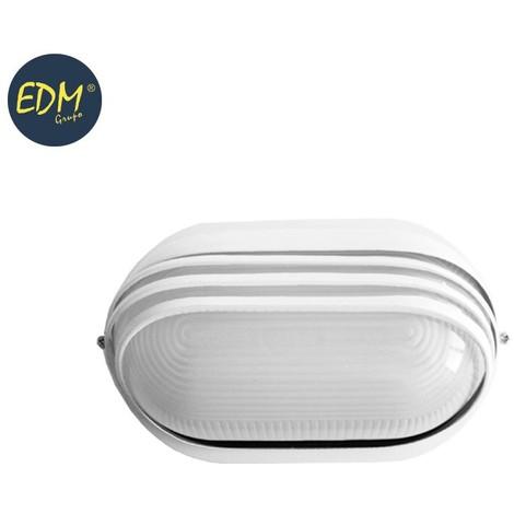 Aplique Aluminio Ip54 Oval Blanco E27 60W Mod. Vinyols - NEOFERR