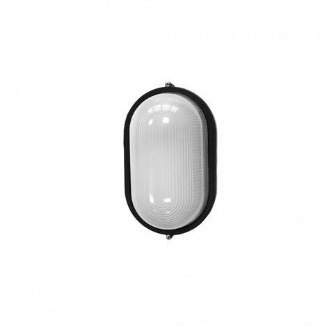 Aplique Aluminio Ip54 Oval Negro E27 100W Mod. Cambrils - NEOFERR