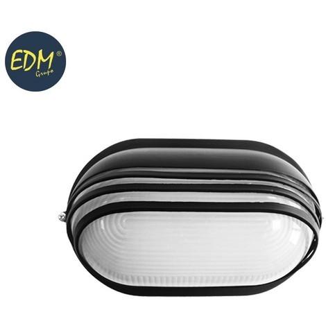 Aplique Aluminio Ip54 Oval Negro E27 60W Mod. Vinyols - NEOFERR