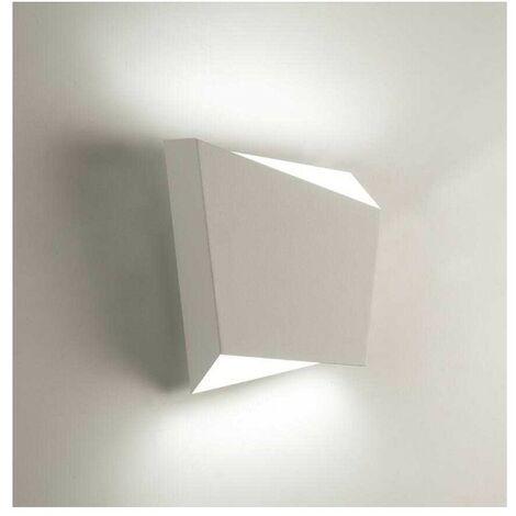 Aplique blanco cuadrado 1 luz ASIMETRIC para dormitorio