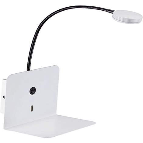 APLIQUE CABECERO LED 3W 1XUSB BLANCO