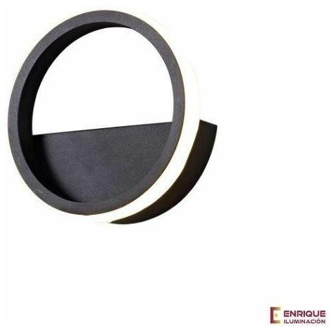 Aplique circular negro KITESURF 8w