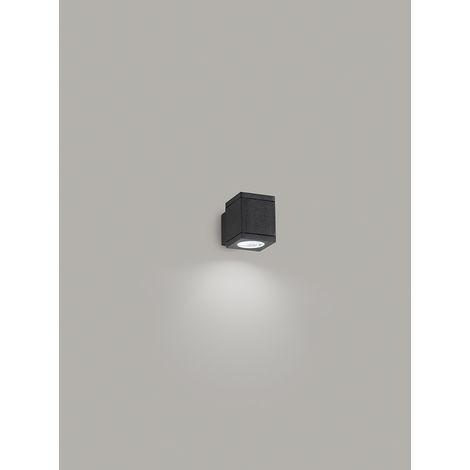 Aplique cuadrado grafito 1 luz PERENZ PERENZ-6534A
