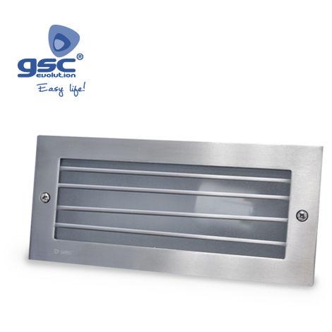 Aplique de aluminio con rejilla para empotrar GSC 0701912